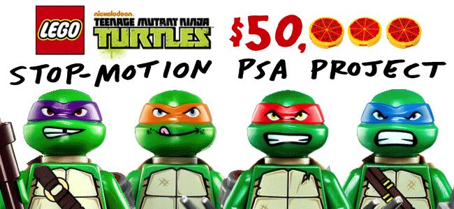 The LEGO Group Teenage Mutant Ninja Turtles Stop-Motion PSA